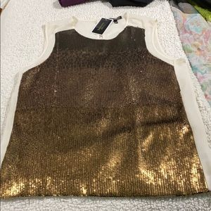 NWT juicy couture gold sequin blouse top size L